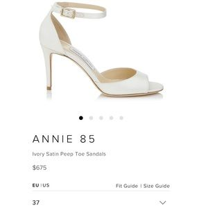 BRAND NEW IN BOX Jimmy Choo Annie85 Ivory Size 7
